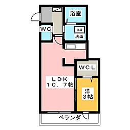 ツインメゾン本郷B[1階]の間取り