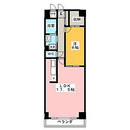 エスティメゾン鶴舞[7階]の間取り
