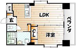 福岡県北九州市戸畑区元宮町の賃貸マンションの間取り