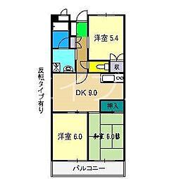 モイドープ和田[5階]の間取り