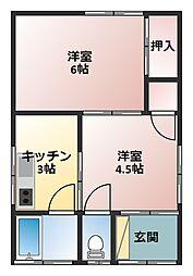 [一戸建] 神奈川県横須賀市野比3丁目 の賃貸【神奈川県 / 横須賀市】の間取り