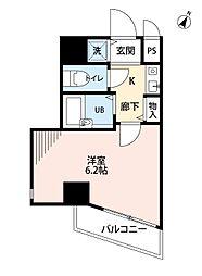 ラナップスクエア新福島[201号室]の間取り