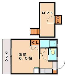 プランドゥ五条A棟[2階]の間取り