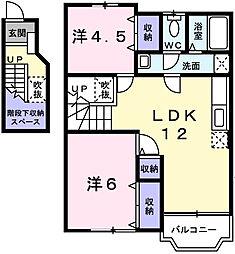 クレストヨコセキ[2階]の間取り