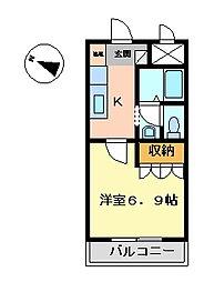 サン・ヴェルディ 東雲[101号室]の間取り