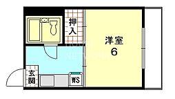 クリーンハイツタケダ[502号室号室]の間取り