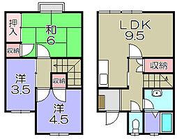 滋賀県東近江市今崎町の賃貸アパートの間取り