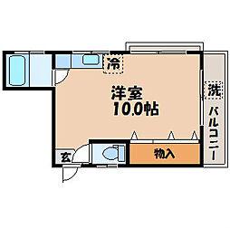 高島マンション[201号室]の間取り