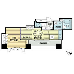 ヴォアール日本橋人形町[9階]の間取り