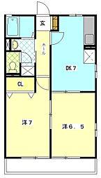 クレール葵[2階]の間取り