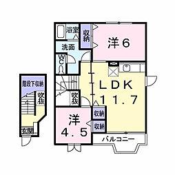シャルマンM・K−I[201号室]の間取り