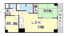 兵庫県神戸市垂水区舞子台3丁目の賃貸マンションの間取り