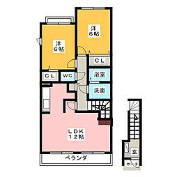 サンライズIII[2階]の間取り