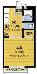 東京都江戸川区江戸川3丁目の賃貸アパートの間取り