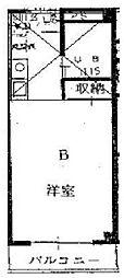 清雲マンション[3B号室]の間取り