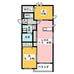 (仮)中川区中郷メゾン[2階]の間取り