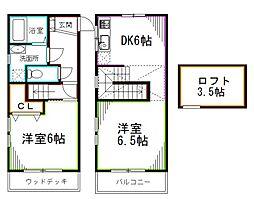 JR中央本線 荻窪駅 徒歩5分の賃貸アパート 1階1LDKの間取り