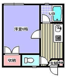 信開セルーラ黒田[108号室]の間取り