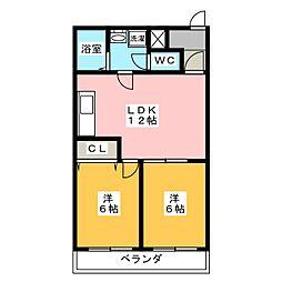 御影ハウス[2階]の間取り