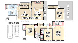 [一戸建] 兵庫県川西市東多田1丁目 の賃貸【/】の間取り