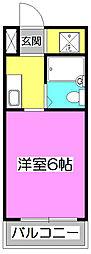 埼玉県新座市北野3丁目の賃貸マンションの間取り