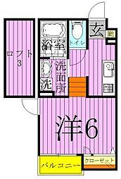 タカラコート1[2階]の間取り