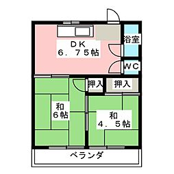アイドル荘[2階]の間取り