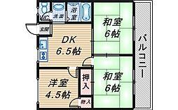 リバーサイドマンション・レオ[202号室]の間取り