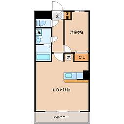 ハバードリーム6番館[3階]の間取り
