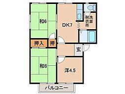 ディアス栄谷[2階]の間取り