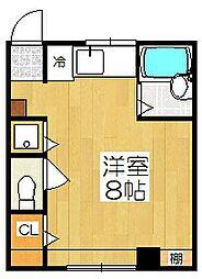 東山ハイツ[303号室]の間取り