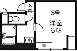 ジョリーフローラ[8階]の間取り