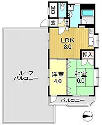 サニーピア[7階]の間取り
