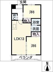 メゾン・パトラージュI[2階]の間取り