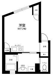 JR山手線 池袋駅 徒歩11分の賃貸マンション 5階ワンルームの間取り