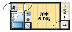 ルモン深江南[5階]の間取り