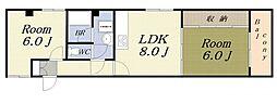 メゾン大港[2階]の間取り