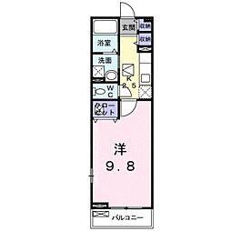 JR東海道・山陽本線 彦根駅 徒歩15分の賃貸アパート 1階1Kの間取り