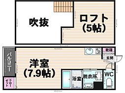 ヴィサージュ井尻[2階]の間取り