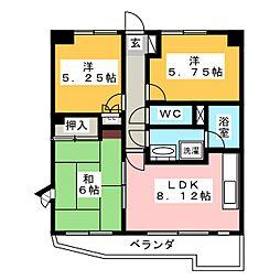 ハイラーク高崎[13階]の間取り
