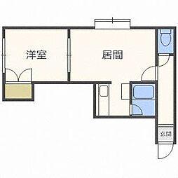 クヴァルチーラ45[3階]の間取り