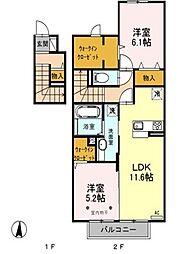 埼玉県三郷市大広戸の賃貸アパートの間取り