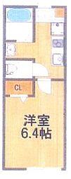 新築 フリーレント1ヵ月 桜木駅徒歩5分の好立地物件 2階1Kの間取り