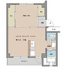 ビレッジハウス姪浜4号棟[4階]の間取り