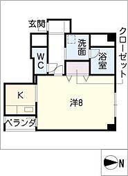 ロアール二子町[2階]の間取り