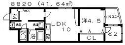 サニープレイスヒル[3A号室号室]の間取り
