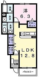 イーストガーデンB[102号室]の間取り