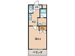 ル・マンA3番館[2階]の間取り