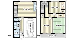 [テラスハウス] 大阪府高槻市城南町1丁目 の賃貸【/】の間取り
