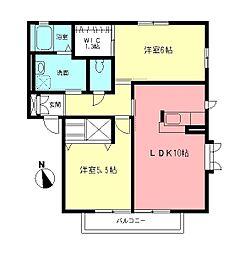 オリエンタルI[2階]の間取り